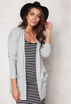 VILA Central Cardigan Light Grey Melange Bubbleroom.se