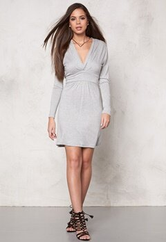 VILA Chaos Wrap Dress Ligth Grey Melange Bubbleroom.se