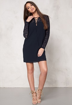 VILA Cinda l/s Dress Total Eclipse Bubbleroom.se