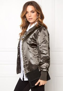VILA Concrete Sateen Jacket Granite Grey Bubbleroom.fi