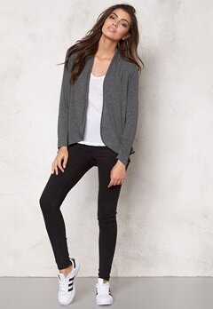 VILA Confident Cardigan Dark Grey Melange Bubbleroom.se