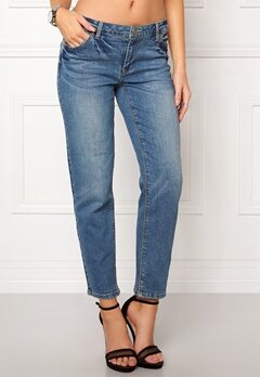 VILA Crow rw Cropped Jeans Medium Blue Denim Bubbleroom.fi