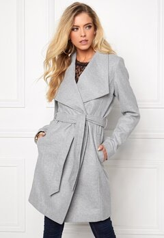 VILA Director Jacket Light Grey Melange Bubbleroom.se