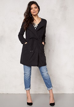 VILA Emmely Chic Coat Black Bubbleroom.se