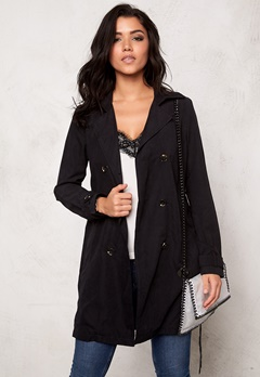 VILA Emmely mid trenchcoat Black Bubbleroom.se