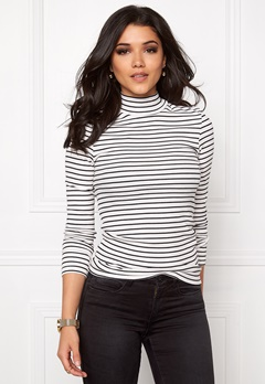 VILA Falls Rib Turtleneck Snow White Bubbleroom.se