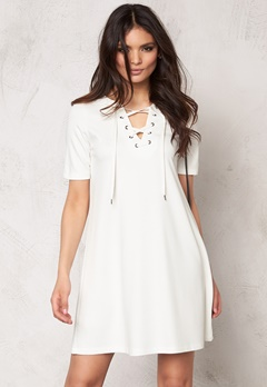 VILA Force s/s dress Snow White Bubbleroom.fi