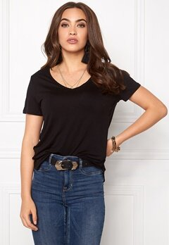 VILA Gira T-shirt Black Bubbleroom.fi