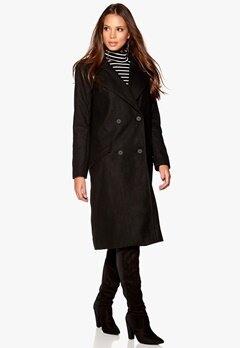 VILA Jackie Coat Black Bubbleroom.se