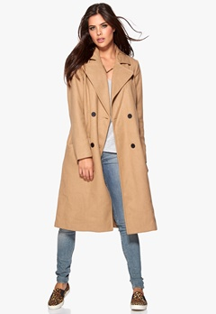 VILA Jackie Coat Dusty Camel Bubbleroom.se