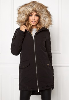 VILA Jala Down Coat Black Bubbleroom.se