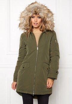 VILA Jala Down Coat Ivy Green Bubbleroom.fi