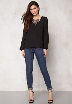 VILA Ke L/S Top Black Bubbleroom.se