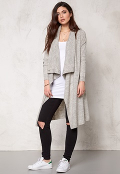 VILA Kleopatra Knit Cardigan Light Grey Melange Bubbleroom.se