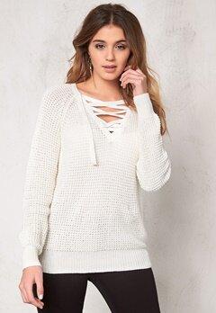 VILA Lace Knit Top Pristine Bubbleroom.se