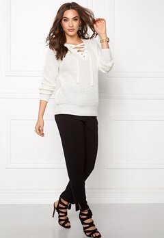 VILA Lace Knit Top Snow White Bubbleroom.fi