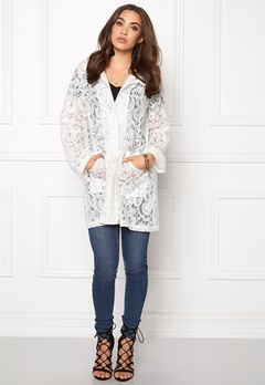 VILA Laces Rain Coat Snow White Bubbleroom.se