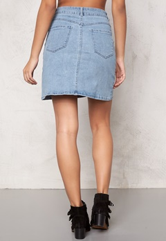 VILA Lagos Denim Skirt Light Blue Denim Bubbleroom.se