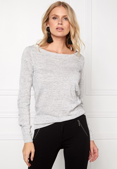 VILA Lesly Knit Top Light Grey Mel. Bubbleroom.fi