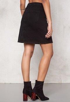 VILA Liga Denim Skirt Black Bubbleroom.se