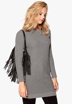 VILA Lighty Knit Dress Medium Grey Melange Bubbleroom.se