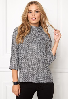 VILA Linde 3/4 Sleeve Top Ebony Bubbleroom.se