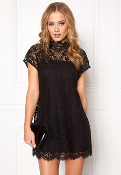 VILA Lorina long top Black Bubbleroom.fi