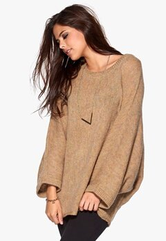 VILA Loud Knit Top Dusty Camel Bubbleroom.se