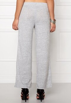 VILA Lune Wide Knit Pant Light Grey Mel. Bubbleroom.fi