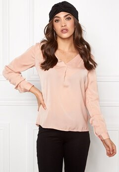 VILA Melli l/s New Top Rose Dust Bubbleroom.se