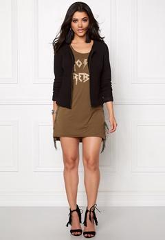 VILA Naja New Short Jacket Black Bubbleroom.se