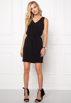 VILA Nilla New Solid Dress Black Bubbleroom.fi