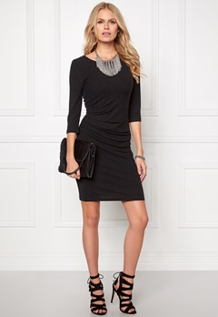 VILA Nimas Detail Dress Black Bubbleroom.se