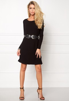 VILA Nimas L/S Dress Black Bubbleroom.fi