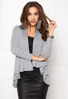 VILA Omal Cardigan Light Grey Melange Bubbleroom.se