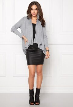 VILA Omal Cardigan Light Grey Melange Bubbleroom.fi