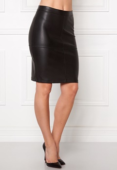 VILA Pen New Skirt Black Bubbleroom.se