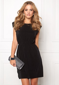 VILA Plissa Dress Black Bubbleroom.se