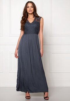 VILA Ponny Maxi Dress Ebony Bubbleroom.fi