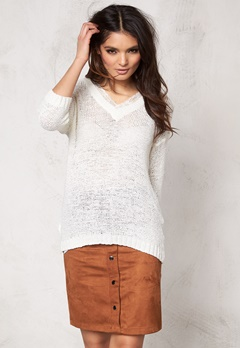 VILA Pray Knit Top Snow White Bubbleroom.se