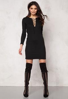 VILA Ran Detail Dress Black Bubbleroom.se