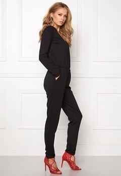 VILA Resti L/S Jumpsuit Black Bubbleroom.se