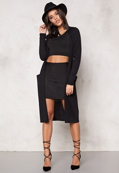 VILA Riva Long Cardigan noos Black Bubbleroom.se