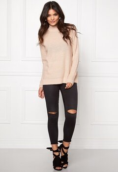 VILA Riva Rib Turtleneck Top Rose Dust Bubbleroom.fi