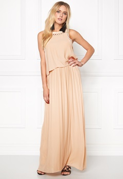 VILA Rosaly Maxi Dress Shifting Sand Bubbleroom.se