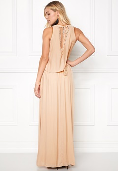 VILA Rosaly Maxi Dress Shifting Sand Bubbleroom.fi