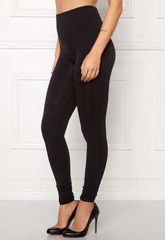 VILA Seam Long Leggings Black Bubbleroom.se