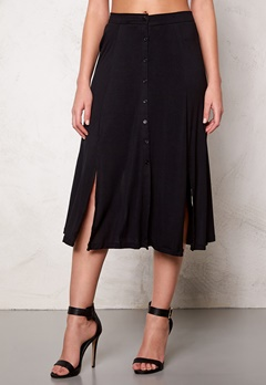 VILA Semra long skirt Black Bubbleroom.se