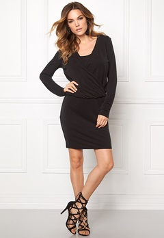 VILA Several L/S Dress Black Bubbleroom.fi