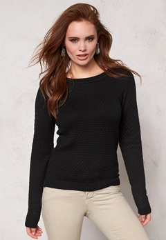 VILA Share knit top noos Black Bubbleroom.se